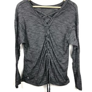 Lululemon Laced With Intent Shirt 6 8 10 Heathered